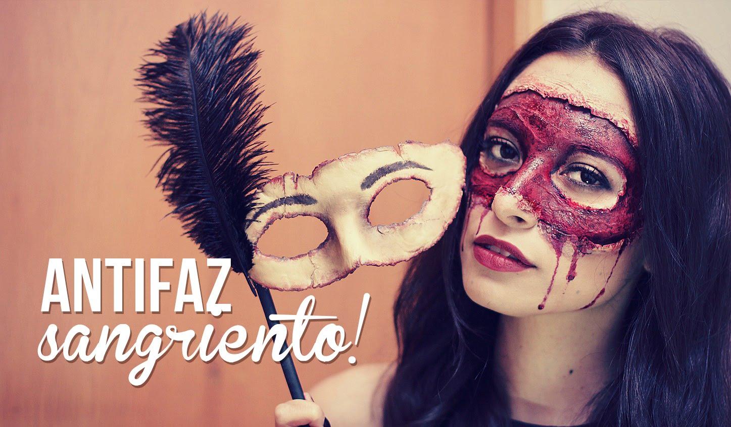 Maquillaje de antifaz sangriento para halloween for Disfraces antifaz