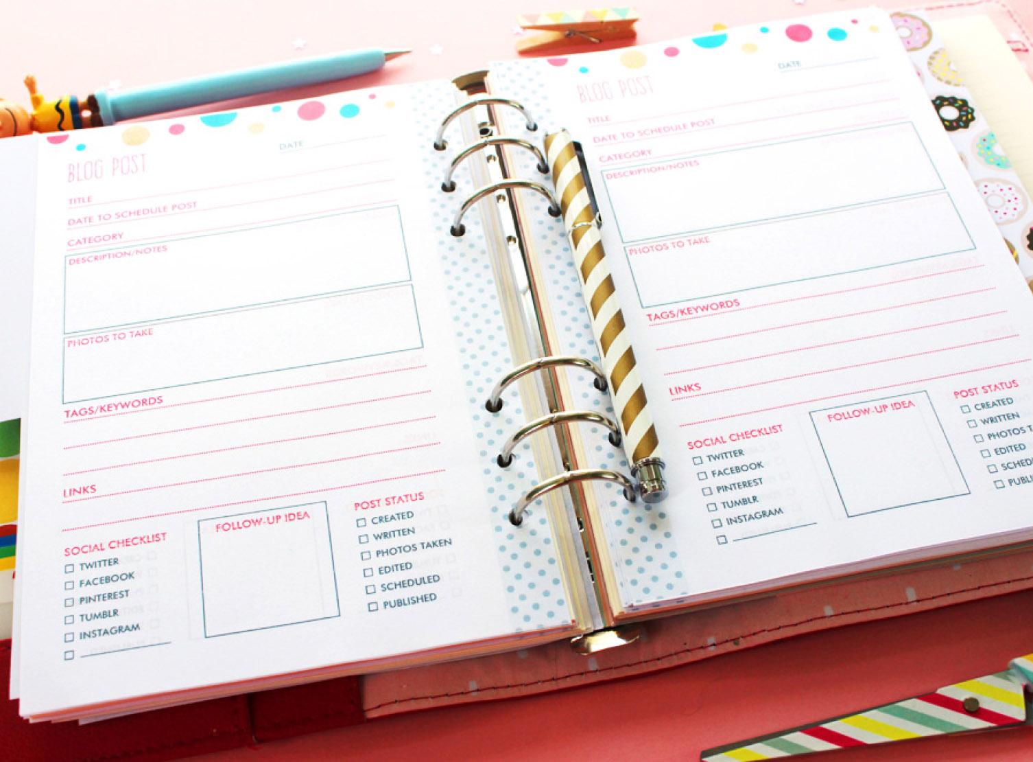 como organizar tu agenda 40 ideas para un planner perfecto