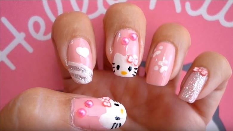 Uñas De Hello Kitty: ¡+40 Diseños Decorativos Con Esta