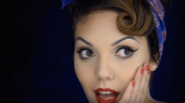 Maquillaje pin up atr vete a lucir como chica de calendario - Maquillage pin up ...